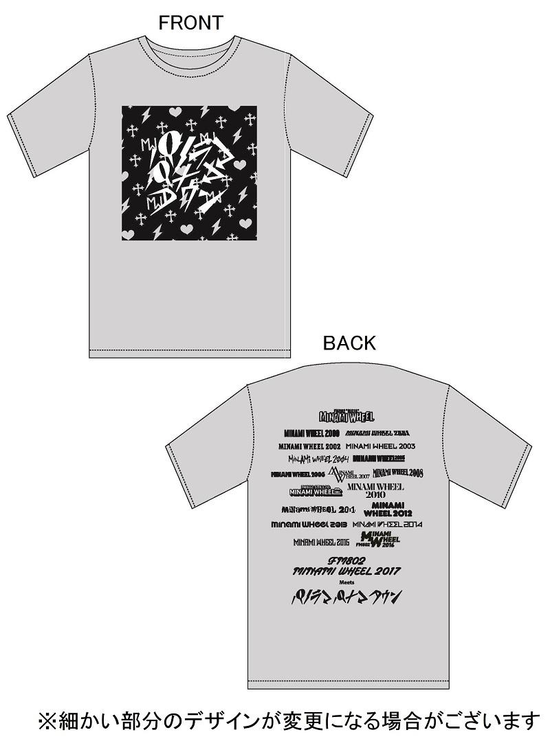 MINAMI WHEEL × パノラマパナマタウン Tシャツ GRAY 【Lサイズ】の画像