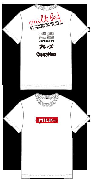 【配送商品】SYNCHRONICITY'17 AUTUMN LIVE!! × MILKFED. コラボTシャツ WHITE(S)の画像