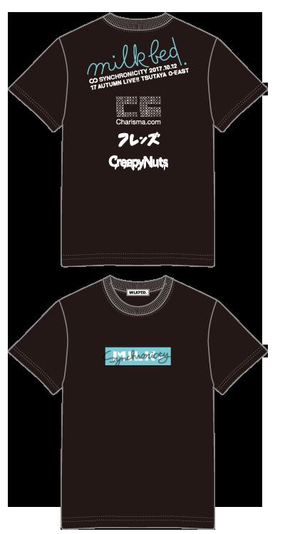 【会場お渡し商品】SYNCHRONICITY'17 AUTUMN LIVE!! × MILKFED. コラボTシャツ BLACKの画像