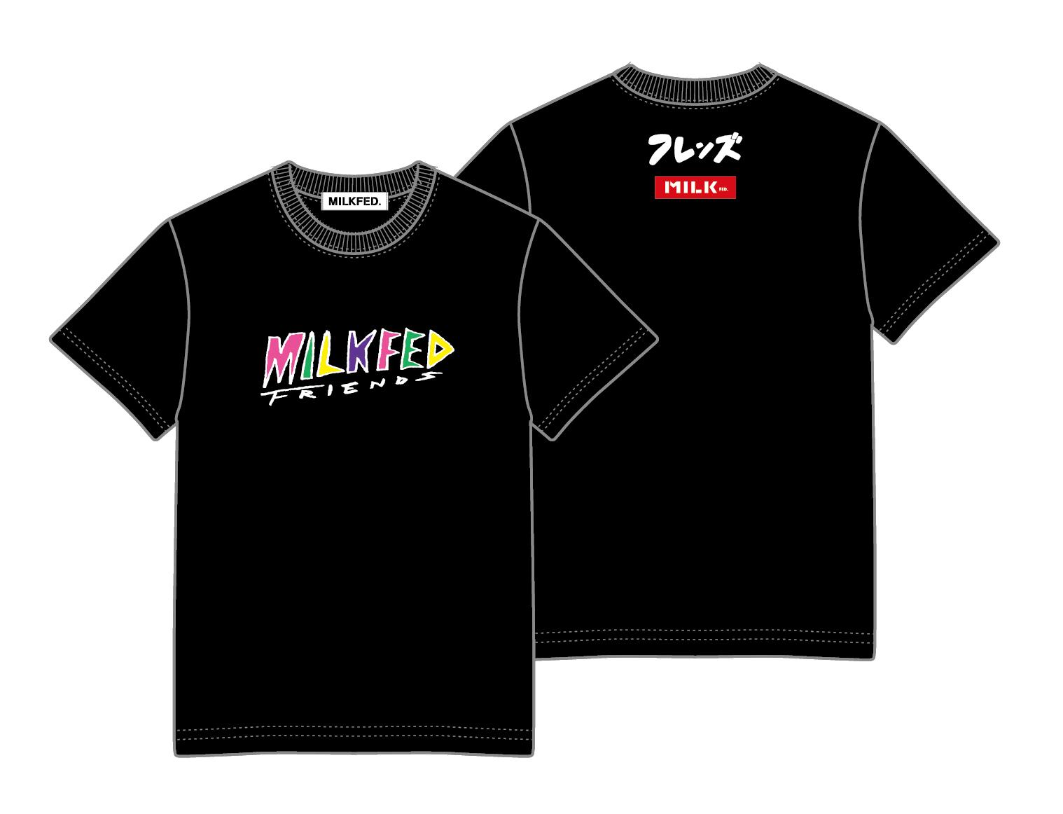【配送商品】フレンズ × MILKFED. コラボTシャツ BLACK(XL)の画像