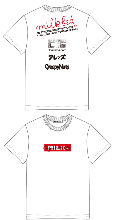 【会場お渡し商品】SYNCHRONICITY'17 AUTUMN LIVE!! × MILKFED. コラボTシャツ WHITEの画像