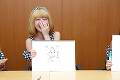 「マスコットキャラを作ってみよう!」企画メンバー直筆イラスト原紙セット(小島瑠那)の画像