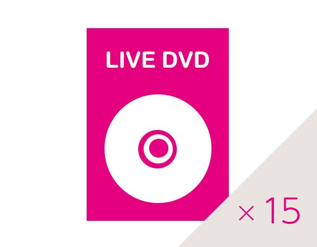 ライブDVD 15枚セットの画像
