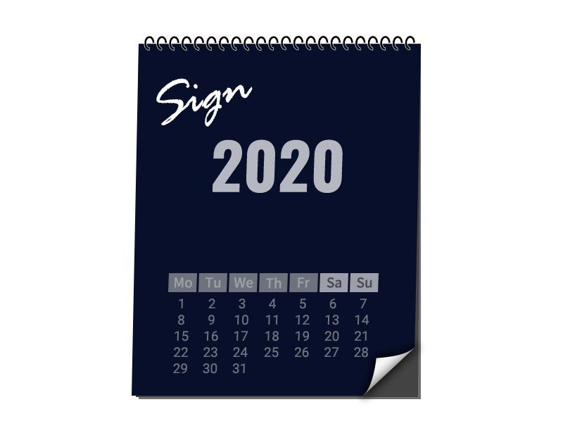メンバー全員直筆サイン入りWIZY限定カレンダー