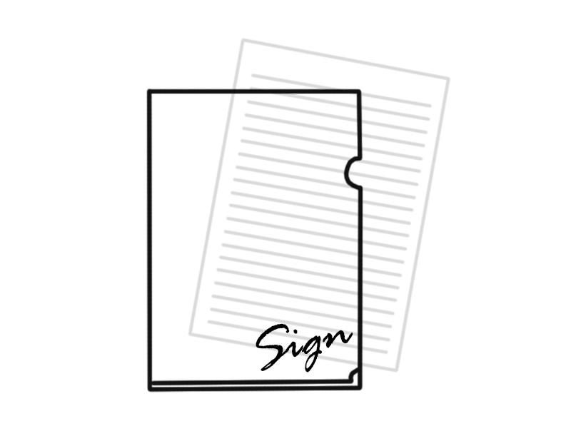 sign【推しメンバー直筆サイン&コメント入り】特別クリアファイル