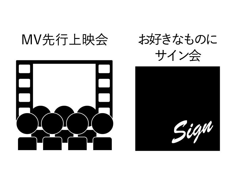 MV先行上映会&お好きなものにサイン会