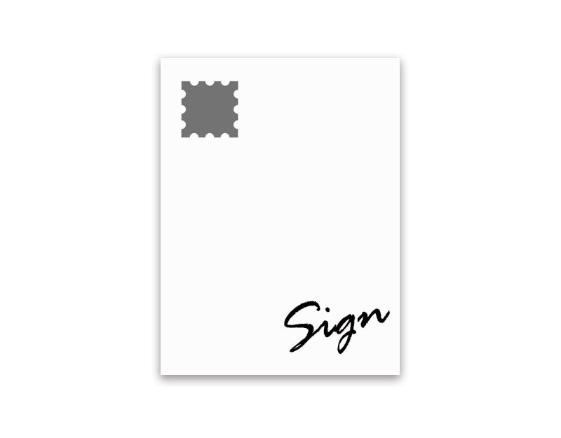 サイン入りポストカード