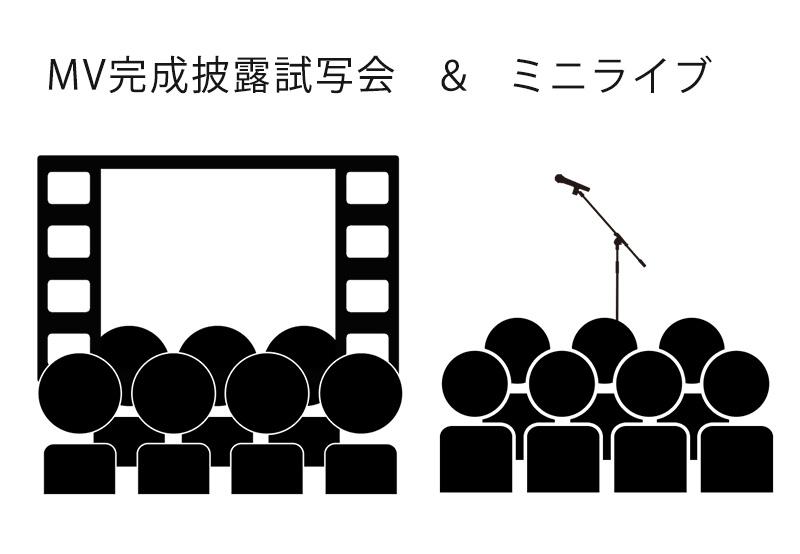 MV完成披露試写会&ミニライブ参加権