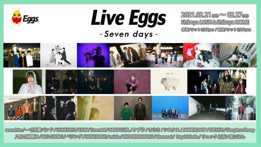 Live Eggs –Seven days-